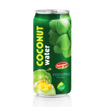 Coconut water wholesales with Fruit Juice Pineapple flavour Aluminium can 500ml