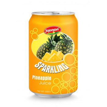 Sparkling water with pineapple juice in Aluminium can 330ml Fruit juice wholesales