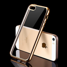 Luxury Silicone Case For iPhone 5 5s se 6 6s plus 7 7Plus Case Transparent Cover 0.5 mm Ultra Slim Coque Fundas