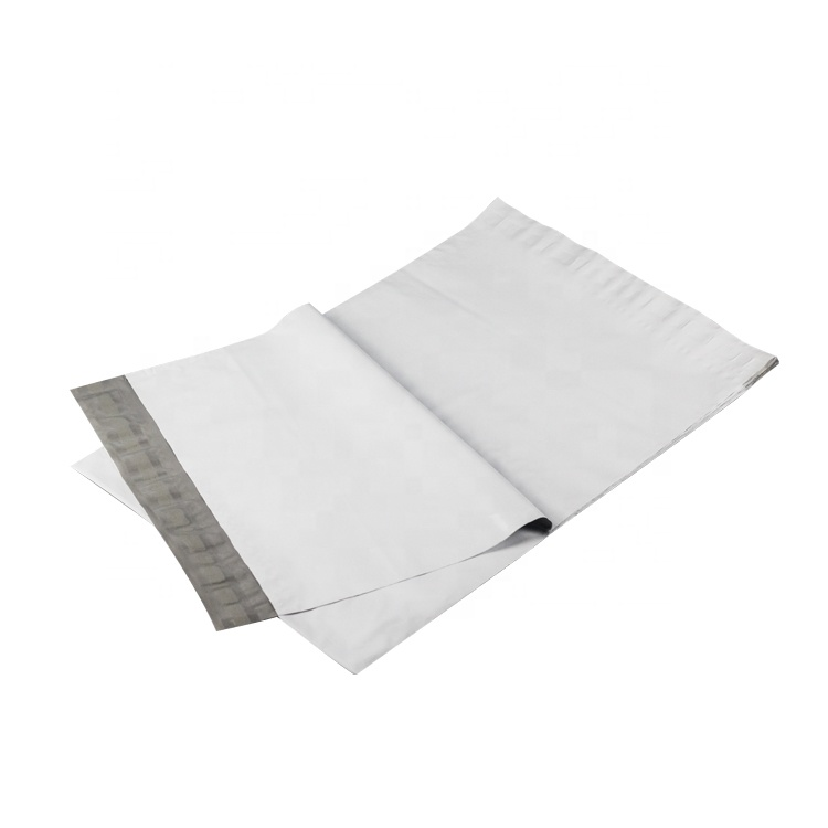 Self adhesive plain clothing packaging eco friendly plastic shipping poly mailer custom white mailing bags