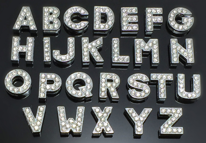 10mm letter alphabet zinc alloy