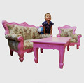 Good Quality Wooden Kids Furniture - Children Carved Sofa Set European Classic Style