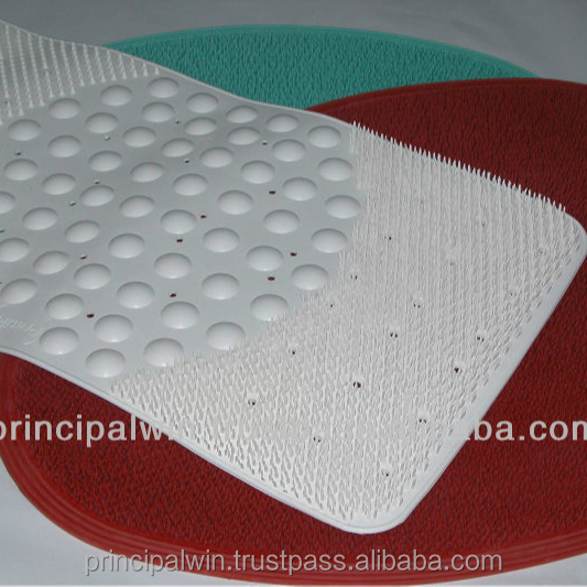 Three Zone Non Slip Shower / Bath Rubber Mat