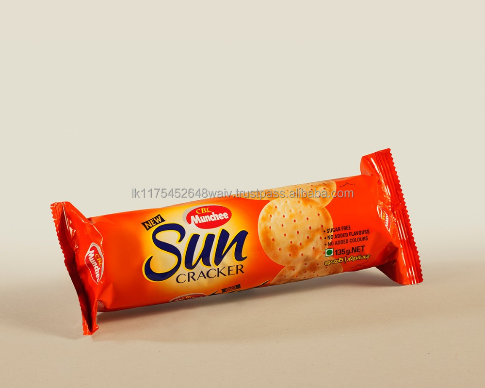 Munchee Sun Cracker the Goodness of Lightness Offering Crispiest Mouthful Bite which Melts Giving the Freshest Creamy Taste