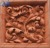 Red Sandstone Antique Flower Carved Marble Wall Hanging
