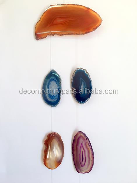 Agate Slice Wind Chimes 5 pieces M2, Home Decor