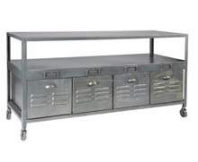 Entertainment TV unit, Recycled TV Stand, industrial Media unit