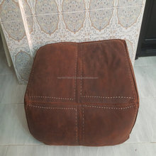 Genuine Moroccan leather poufs