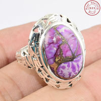 india fashion gemstone jewelry purple copper turquoise ring online sale 925 silver jewelry engagement ring