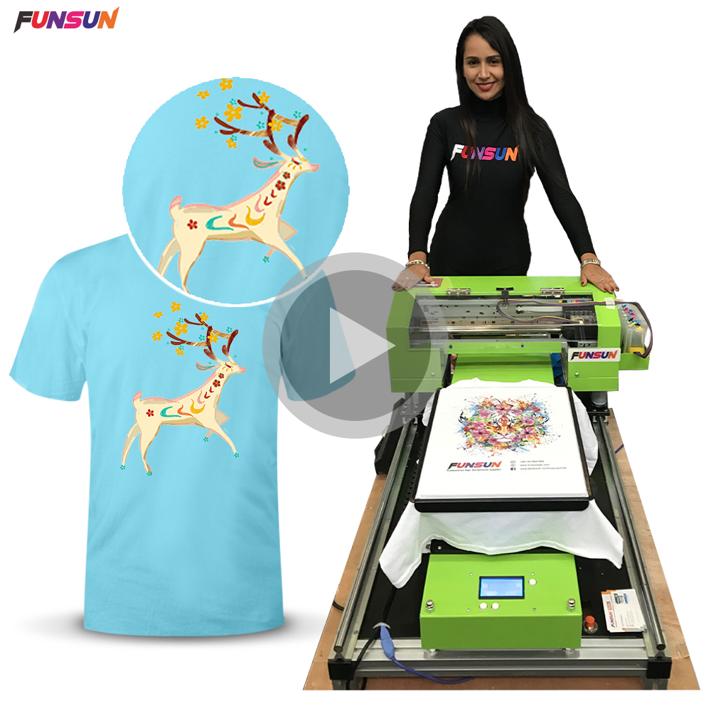 High quality A3 size t-shirt printer in cheap price
