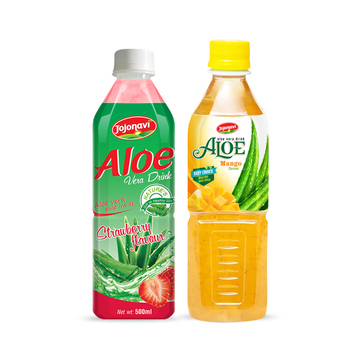 Fruit juices Aloe vera products export Aloe vera drink with blueberry flavour in PET Bottle 500ml JOJONAVI beverage brands