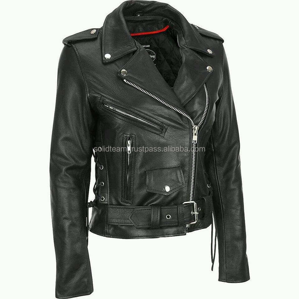 2017 MENS SLIMFIT BIKER GENUINE LEATHER JACKET BLACK COLOUR