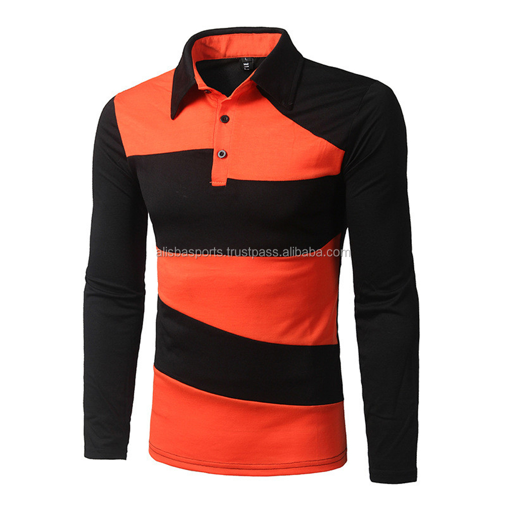 Polo Shirt Men 2016 Autumn Fashion Men's Slim Long Sleeve Casual Polo Shirts