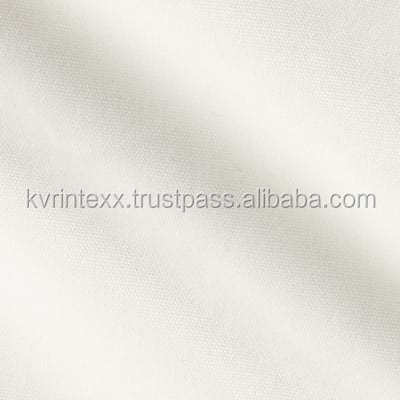 plain grey slub cotton duck fabric with woven textile