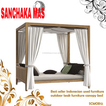 Best seller Indonesian used furniture outdoor teak furniture canopy bed