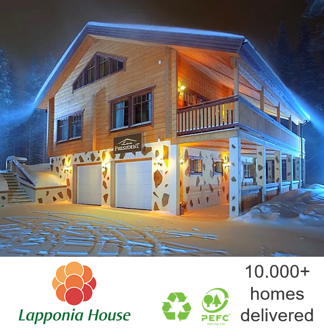 Luxury log house | ecological wooden house | award-winning log chalet | extreme timber house | pre-fab house