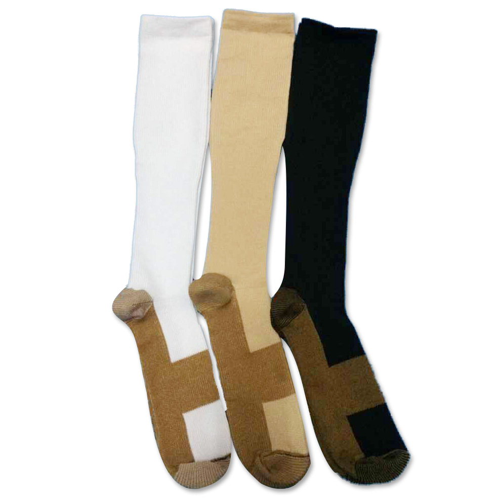 YLW007 Factory Price Nylon Knee High Compression Socks
