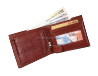 New Mens Slim Leather Bifold Wallet with Credit & ID Card Holder /leather wallets