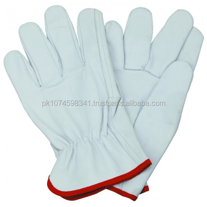 cow grain leather driver gloves/ truck driving gloves