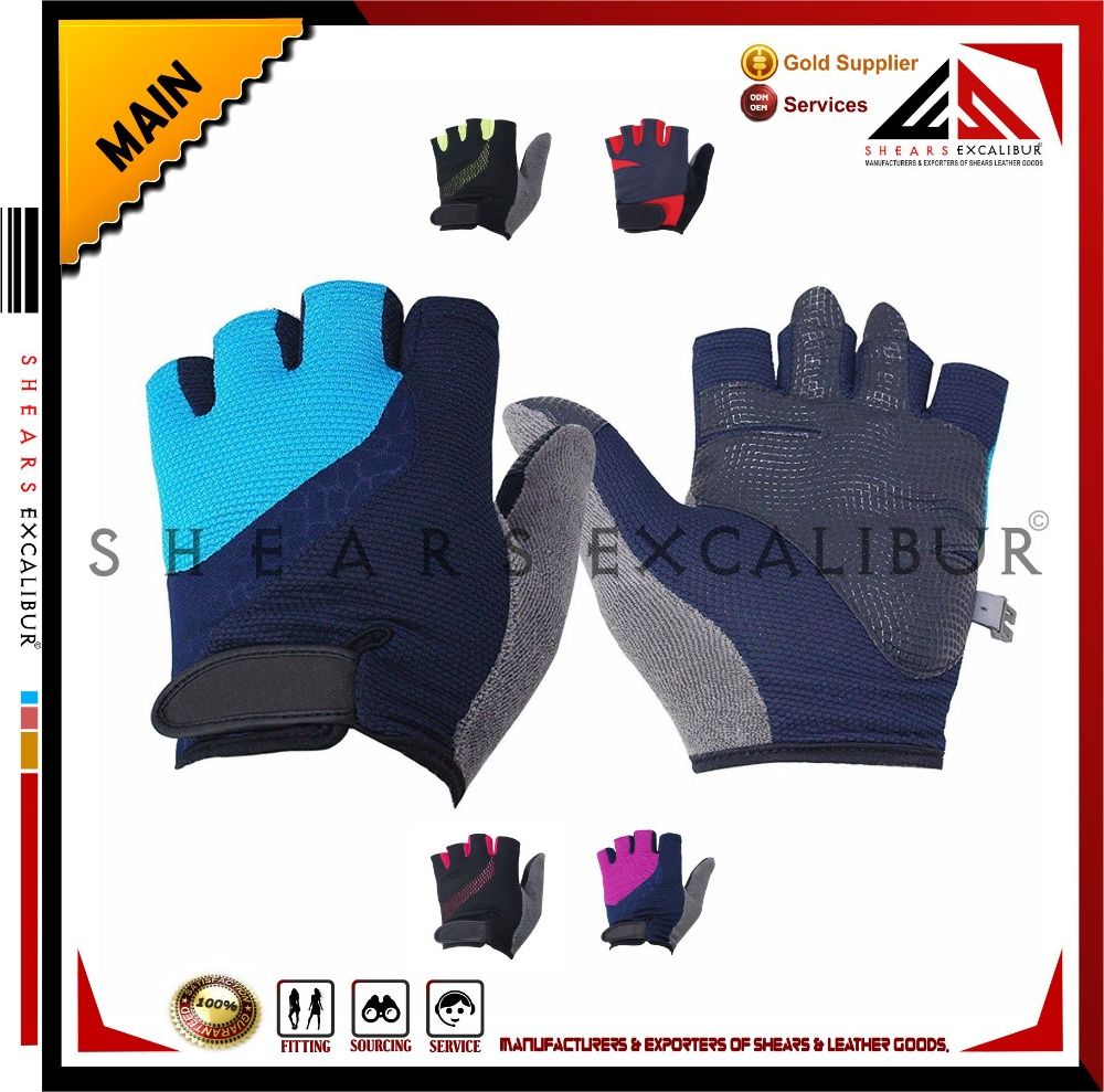 Full Thumb Half Finger Mountain Bike Cycle Bicycle Riding Gloves - Unisex