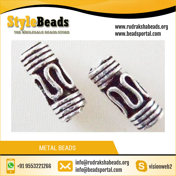 Wholesale Copper Silver Plated Metal Spacer Beads