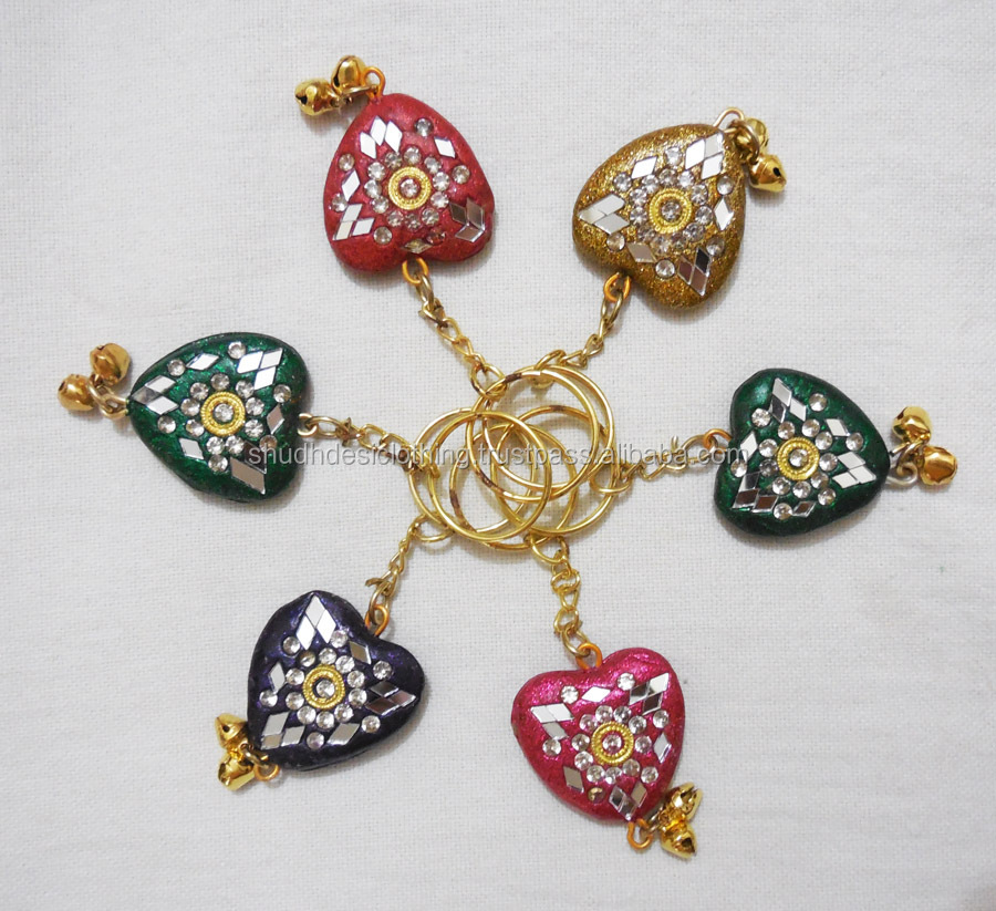 Handicrafted attractive jaipuri beaded key chain