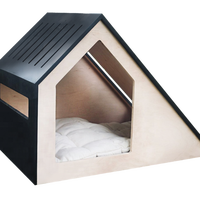 Style Doghouse, cat box - Pet House 68x43x48 Cat Bed Wooden Dog House Daily Products For Pet Cats Dogs Home Shape