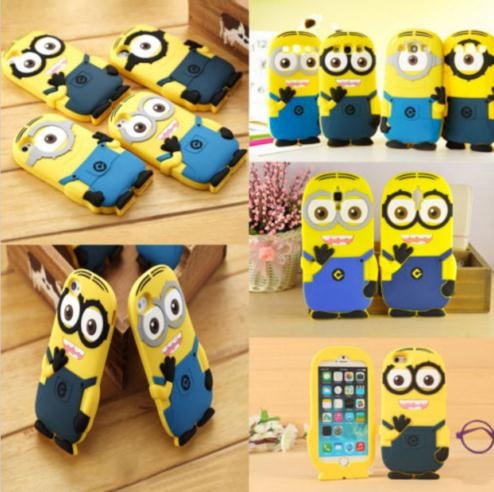 New 3D Despicable Me Minions SOFT SILICONE BACK CASE COVER FOR Mobile Phone