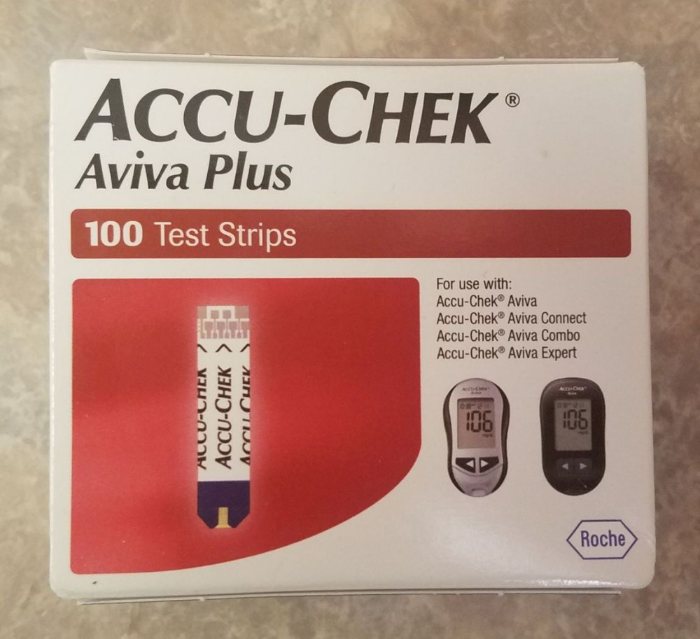 100 Accu-Chek Aviva Plus Diabetic Test Strips Roche NEW SEALED Exp. 10 31 2018