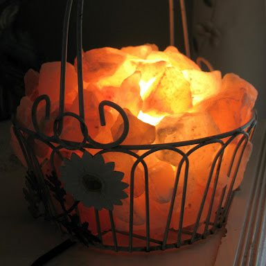Himalayan Feng Shui Salt Lamps (Iron Basket) / Crystal Rock Salt Basket Lamps / Himalayan Salt Diffuser Pakistan