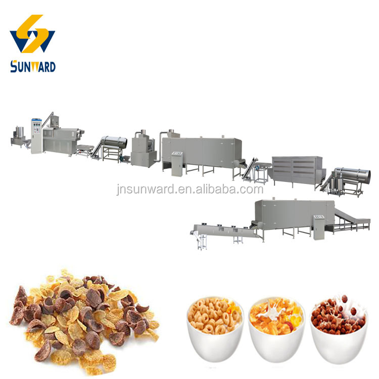 Automated Economic Maize Flakes Oat Flakes Corn Flakes Making Plant Line Machines Equipment