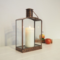 Outdoor metal lantern with Brass Antique Finish in Stainless Steel with Wedding Decor look Candle Lantern