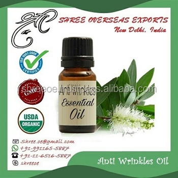 No.1 Supplier of 100% Pure Anti Wrinkle Essential Oil from India