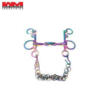 Rainbow Color Pelham Double Jointed Horse Bit