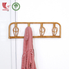 Rattan coat clothes hanger rack with 4 Hooks and Shelf Wholesale For Neat Home