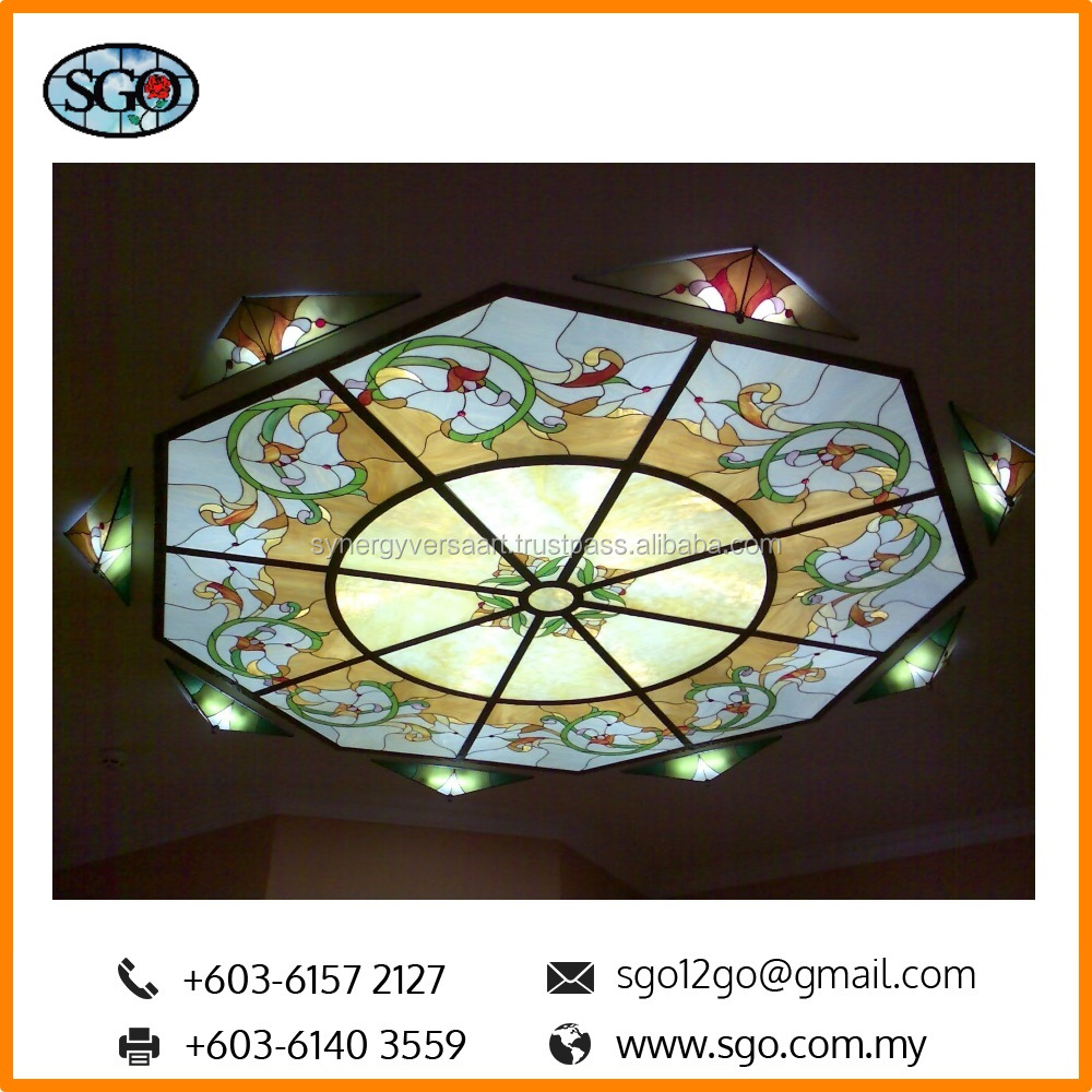 Acrylic Decorative Art Paint Print for Ceiling Panel