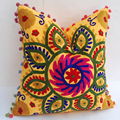 Embroidery handmade square cushion cover home decorative suzani pillow cases