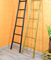 [wholesale]Decorative Bamboo ladder - Bamboo ladder towel rack - Bamboo ladder for bathroom, garden decorative and accessory