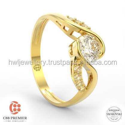 Infinity Love Ring gold jewellery designs for girls