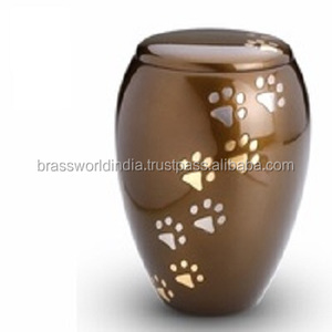 Majestic Paw Print Large Pet Cremation Urn By Brassworld India