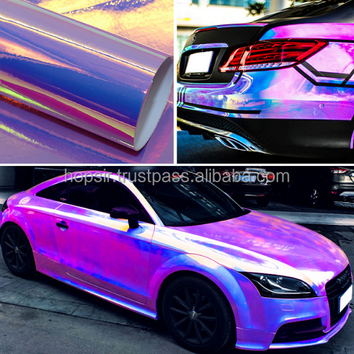 New Type Chameleon Car Wrap Vinyl with Glitter Air Free Bubbles Reflective Car Window Tint Film