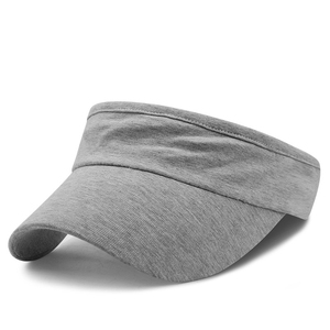 High Quality Customize Breathable Heather Gray Plain Jersey Tennis Sport Sun Caps Visors