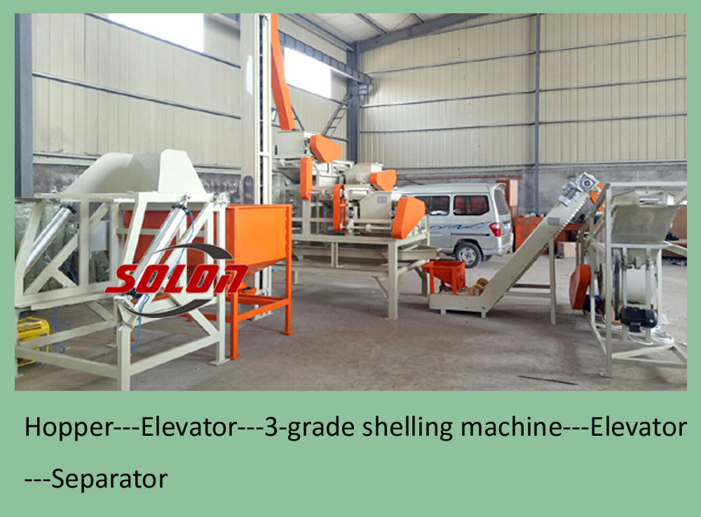 Almond Nut Hazel Shelling Huller Husker Cracker Dehusking Machine Equipment