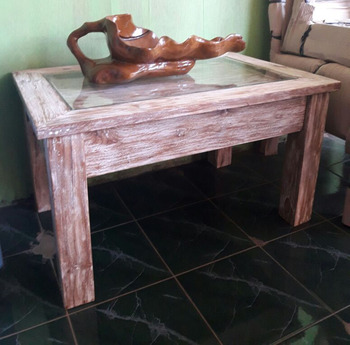 Reclaimed teak wooden coffee tables rustic furniture