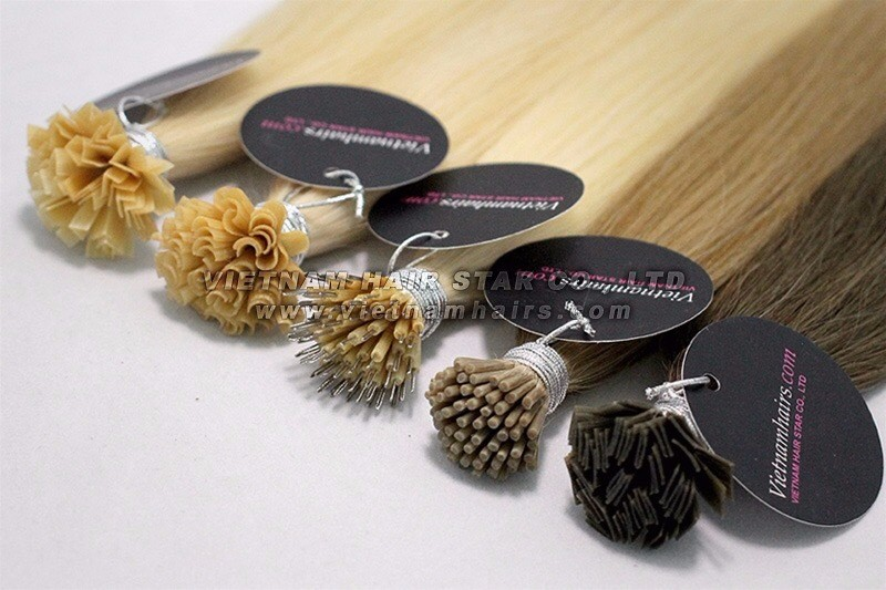 Shopping online Flat tip/ F-Tip Hair Extension Keratin Full colored cuticle aligned human hair