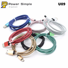 Fashion Colorful Flexible Braided Sync Fast Charging USB Cable for iPhone for Android for Type C