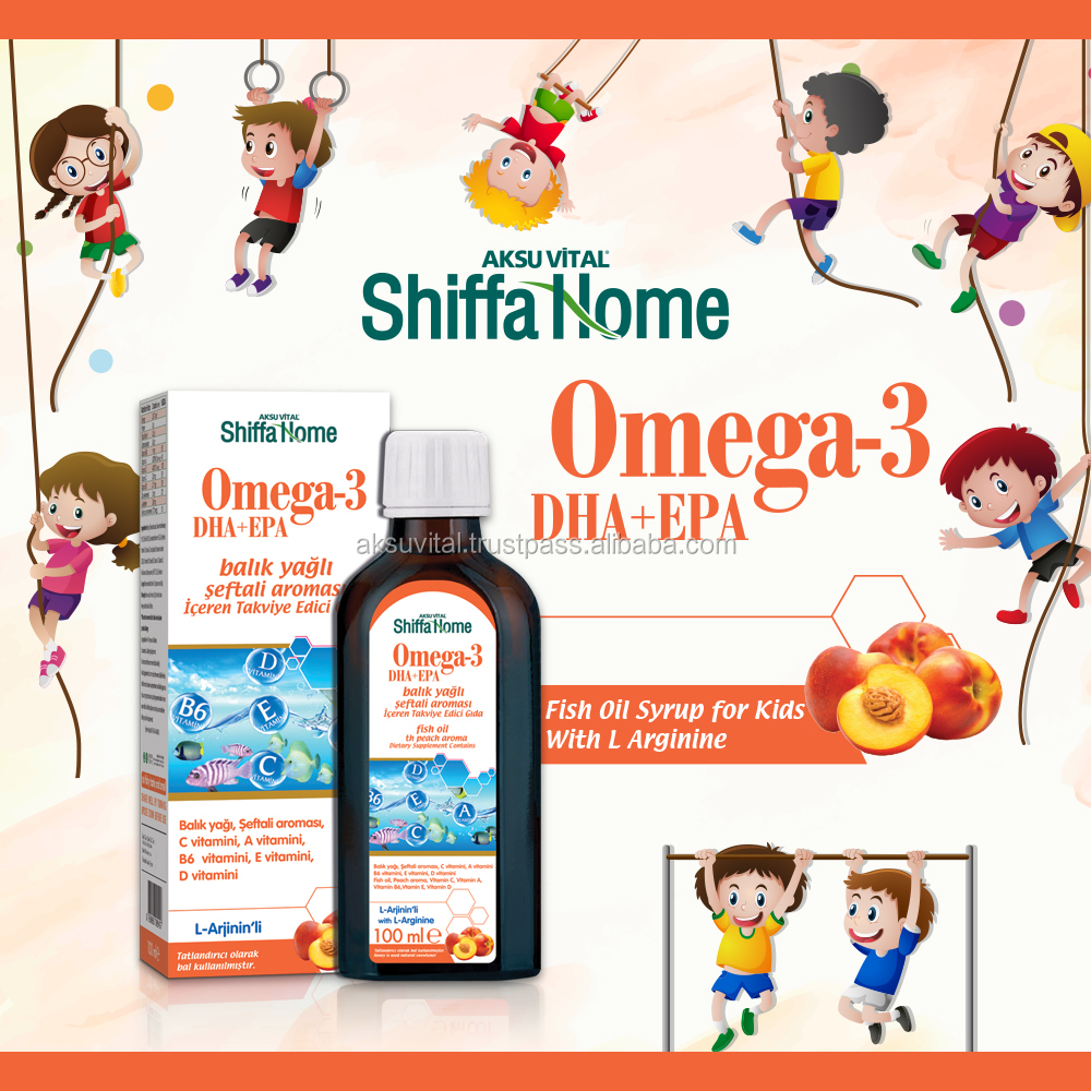 Omega 3 Fish Oil DHA EPA Oral Liquid Supplement for kids