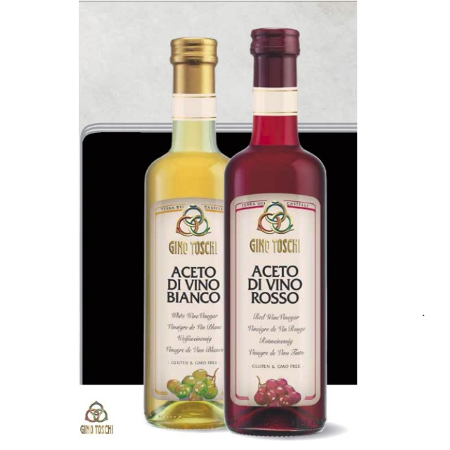 Wine Vinegar - Red & White - Made in Italy - Bottles and Bulk - Salat Dressing