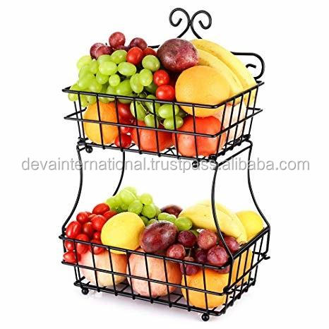 BLACK METAL 3 TIER FRUITS STAND
