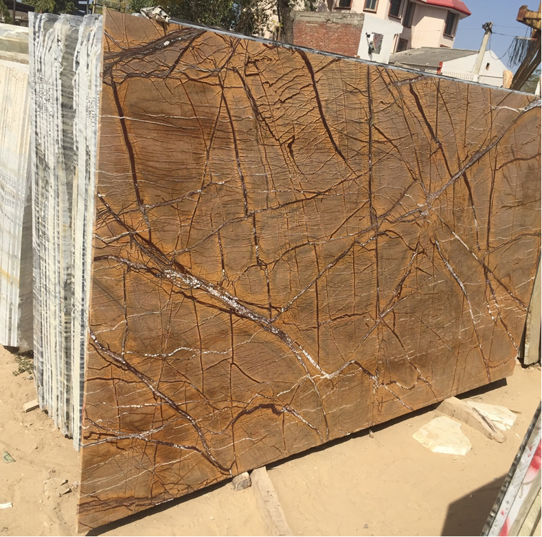 RainForest Brown Marble or Bidasar Brown Marble for flooring and cladding
